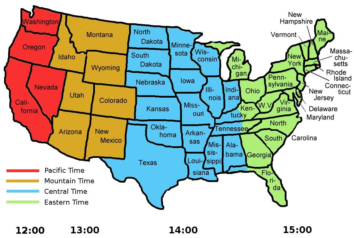 Zeitverschiebung Usa Westküste