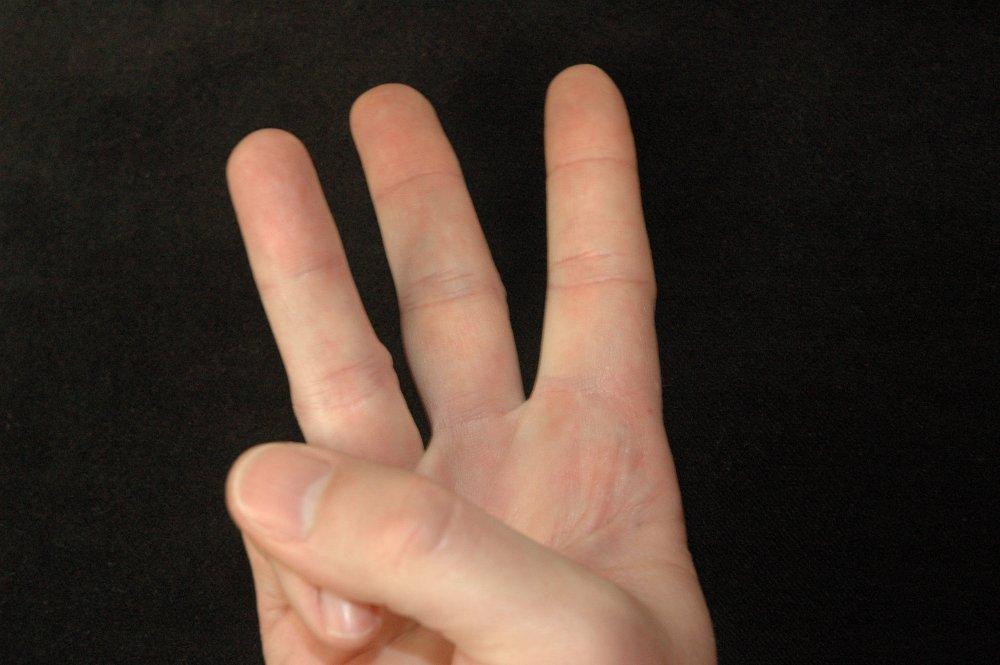 Zeigefinger finger fingerzeichen kleiner Bedeutung von